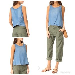 Bb Dakota • Tamala Tank Top Linen Chambray NWT